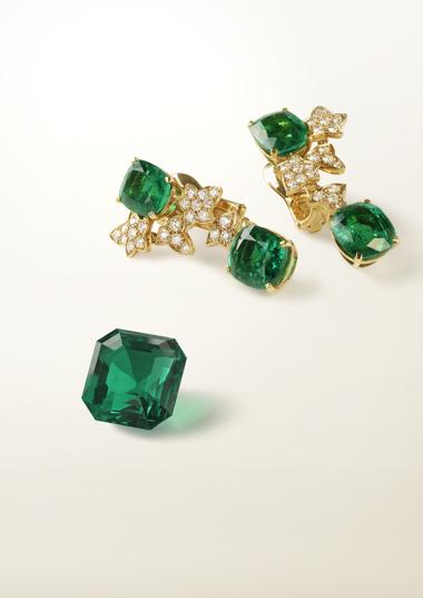 Emerald earrings from Van Cleef