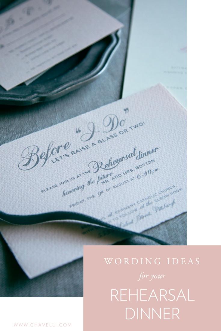 Wedding Rehearsal Dinner Wording Ideas