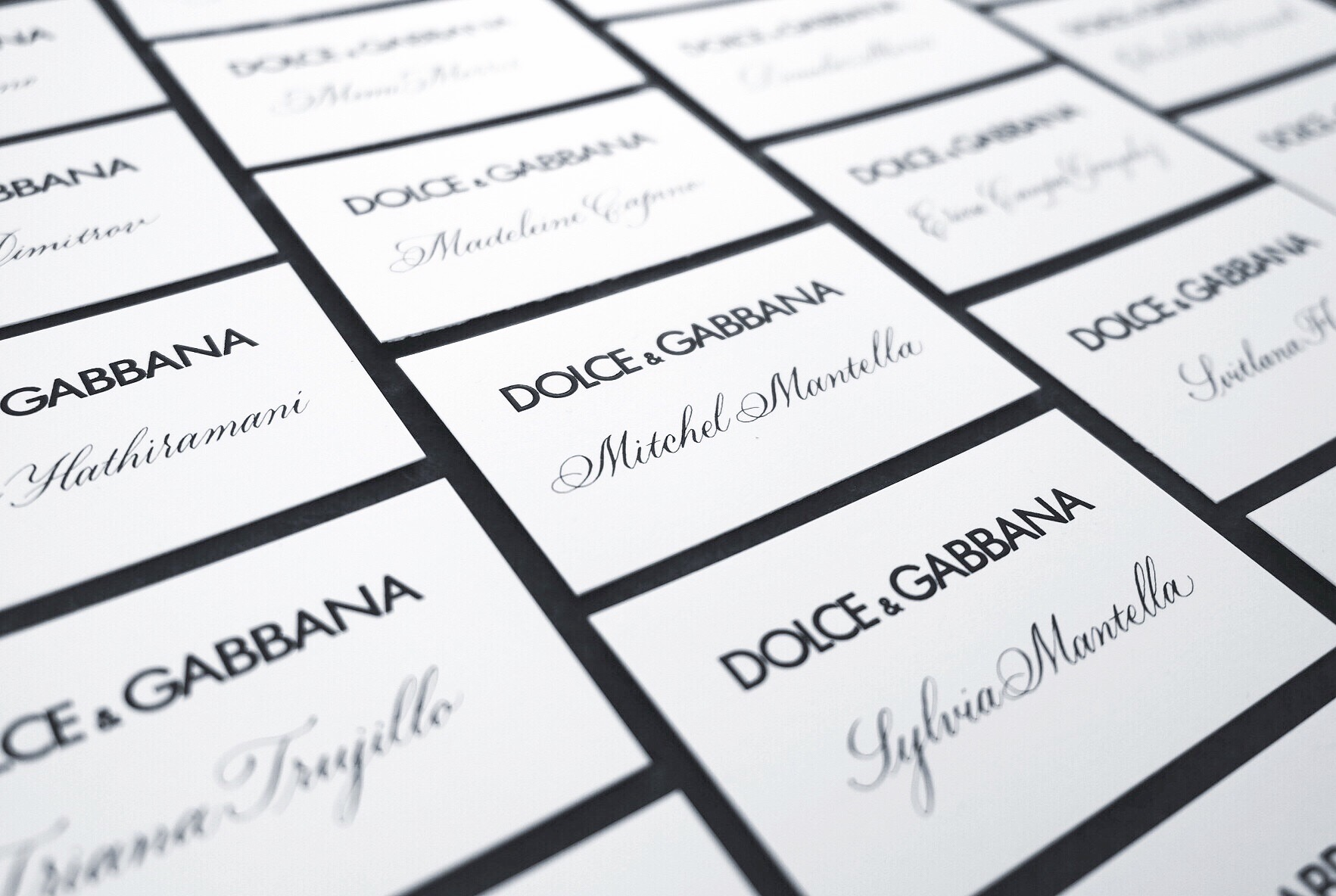Dolce & Gabbana place cards by Chavelli | www.chavelli.com