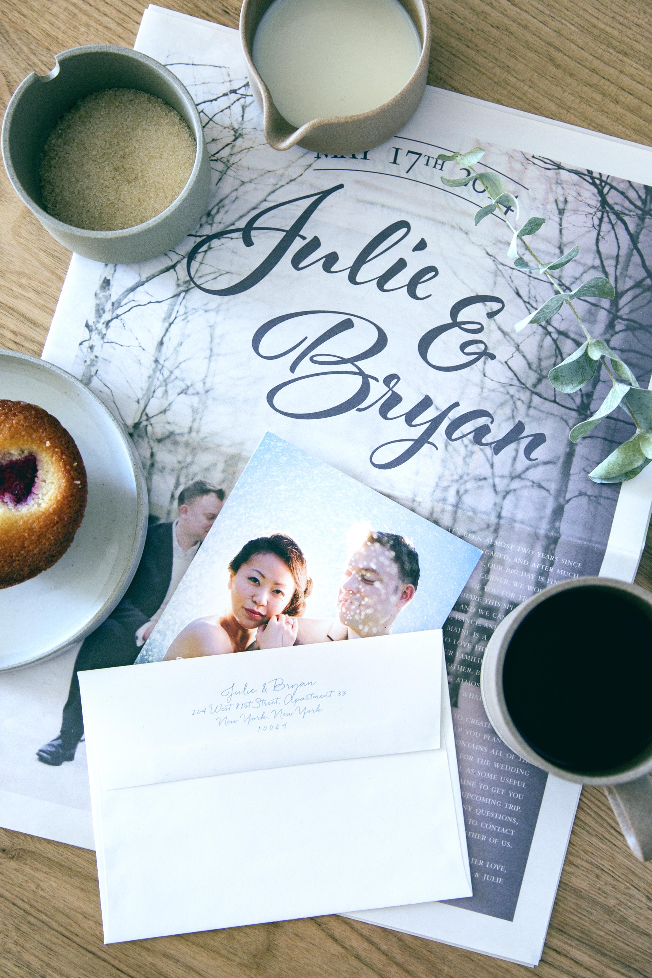 Custom wedding invitation newspaper by Chavelli | www.chavelli.com