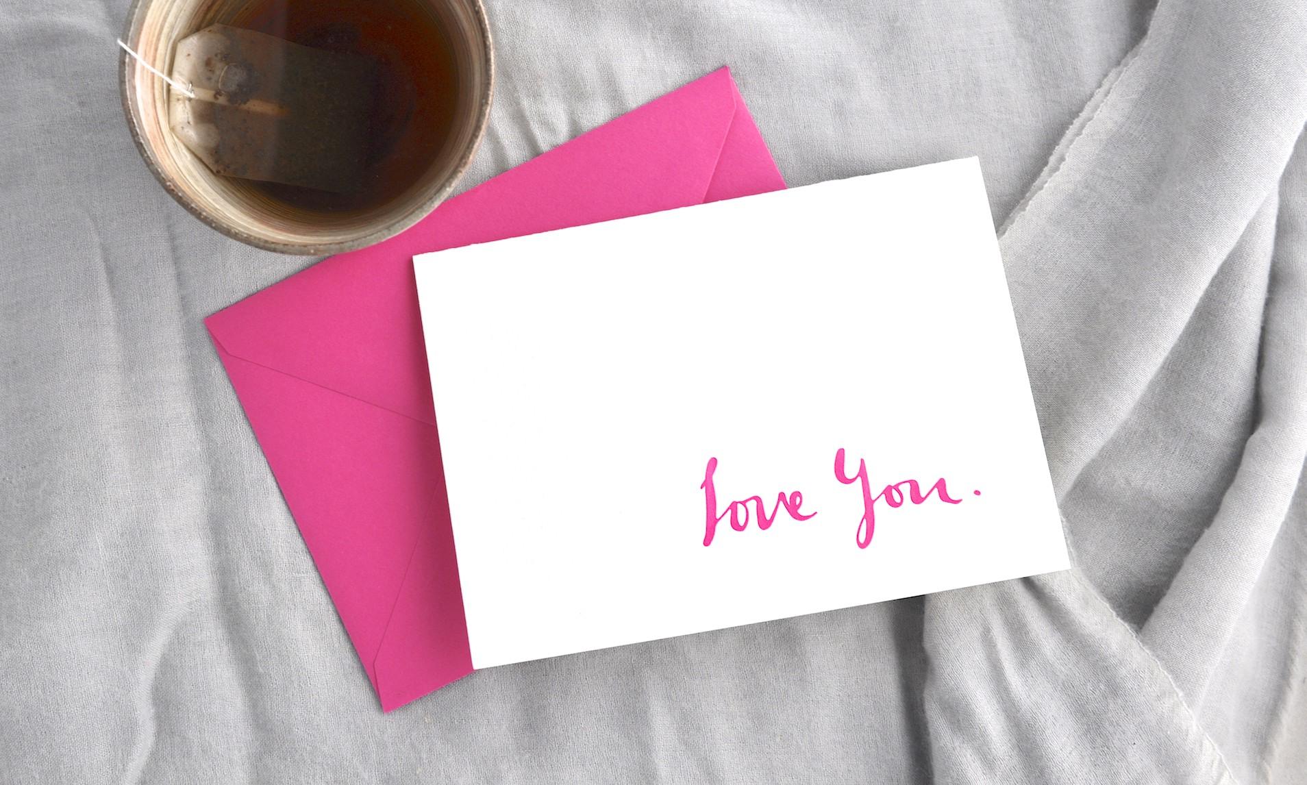 Letterpress printed Love card
