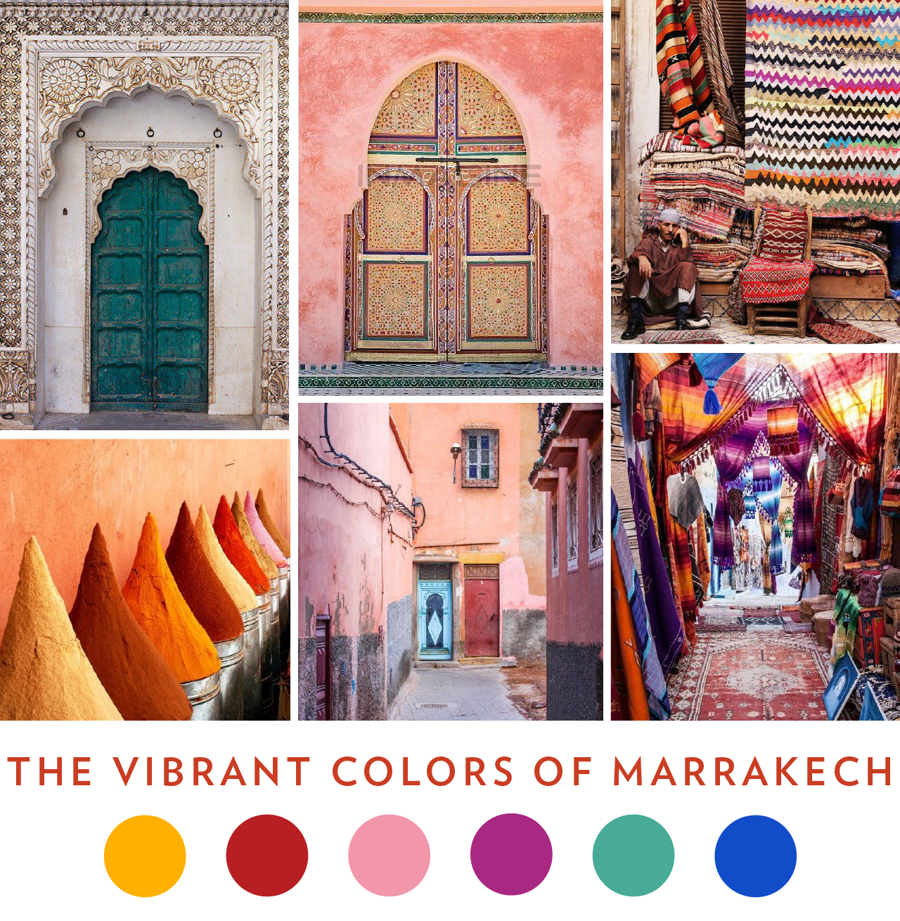 Color Palette Inspiration: Colors of Marrakech, Morocco // www.chavelli.com