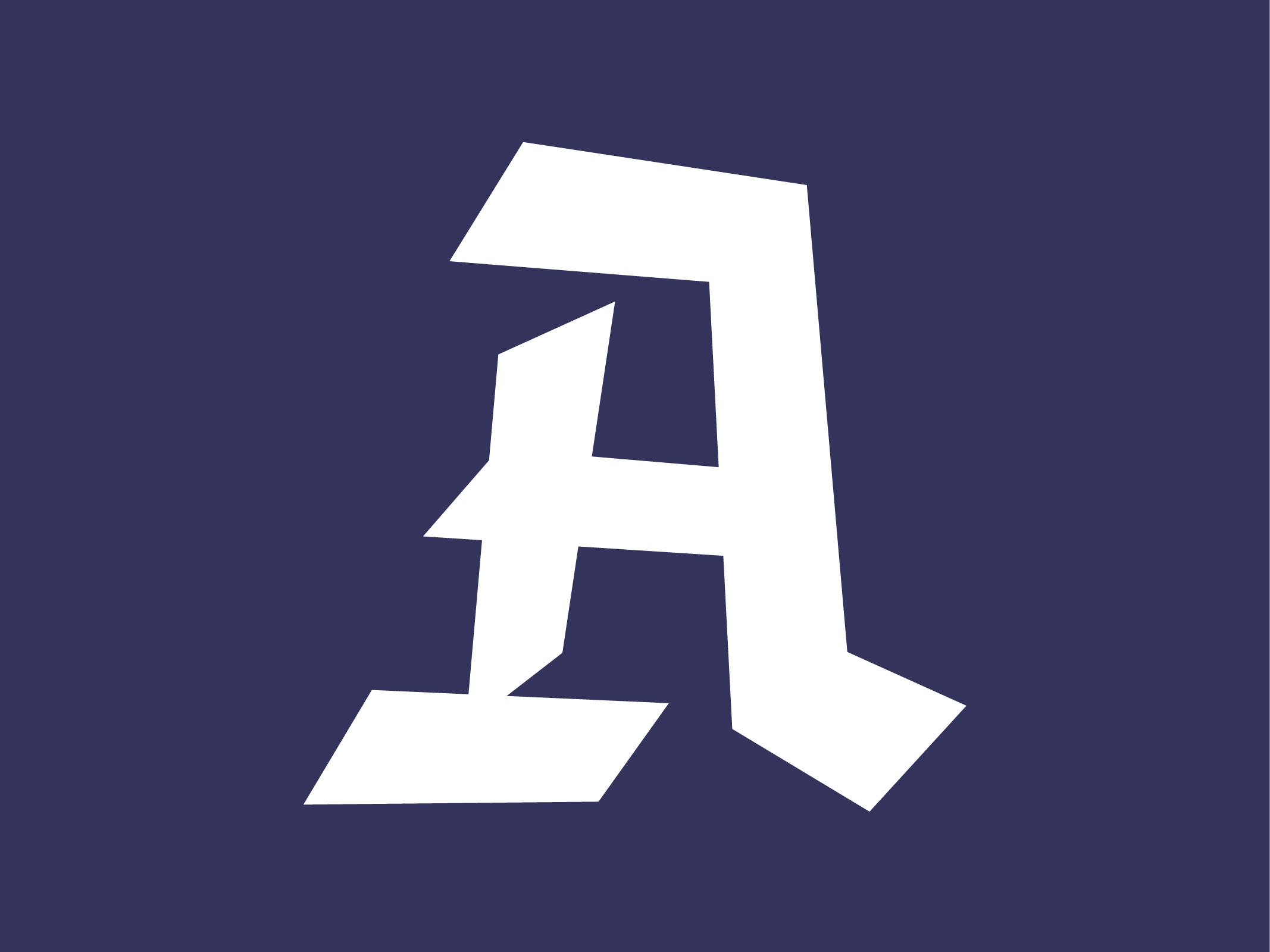 Blackletter inspired capital A // by www.chavelli.com