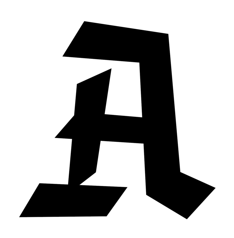 Blackletter inspired capital A // www.chavelli.com
