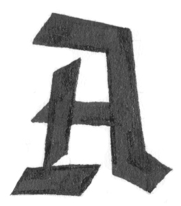 Blackletter inspired capital A sketch // www.chavelli.com