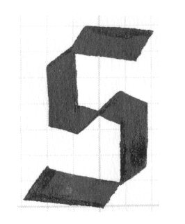 Blackletter inspired calligraphy S // by Chavelli www.chavelli.com
