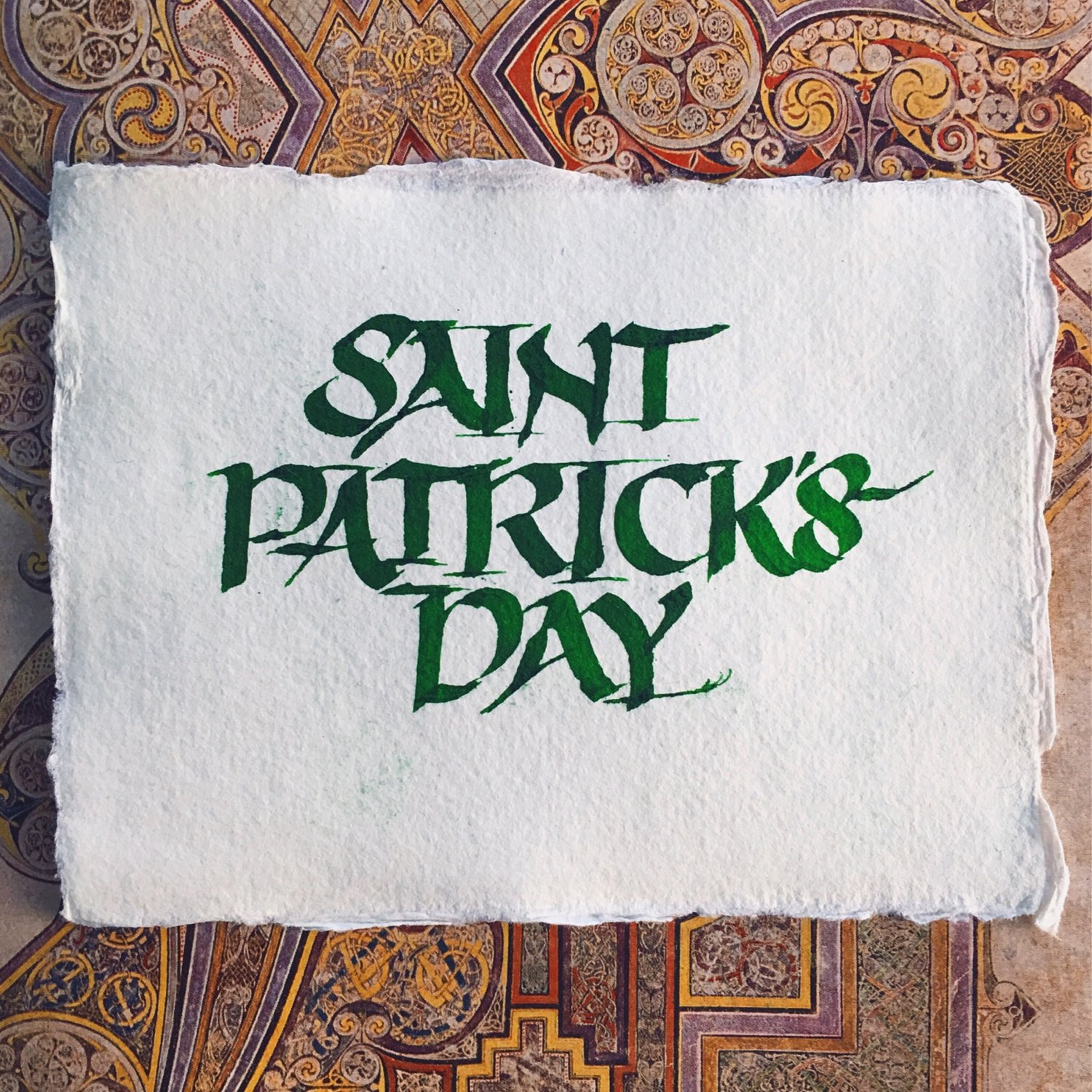 St. Patrick's Day calligraphy in uncial // by www.chavelli.com