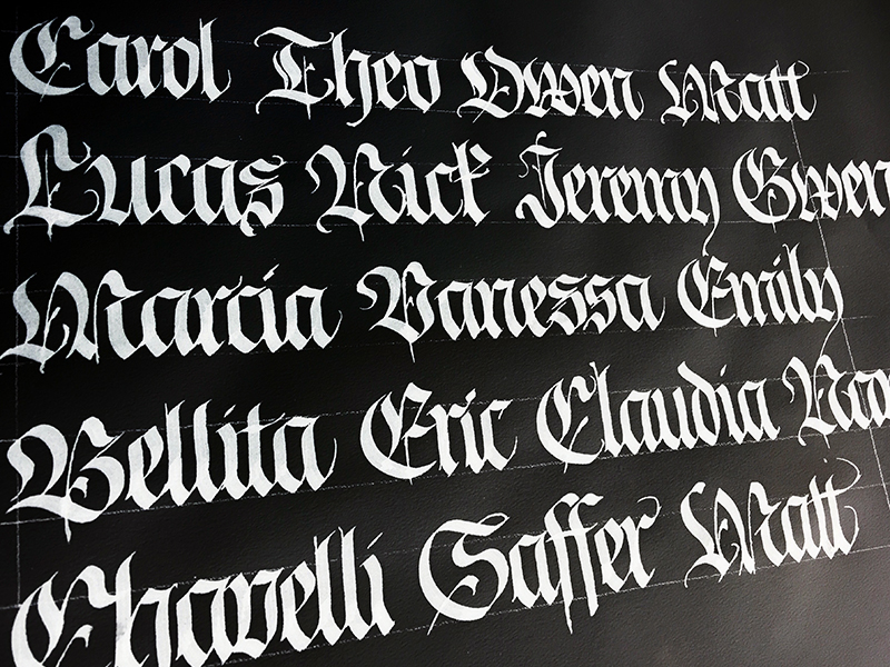 Names in Blackletter // Fraktur calligraphy by Chavelli www.chavelli.com