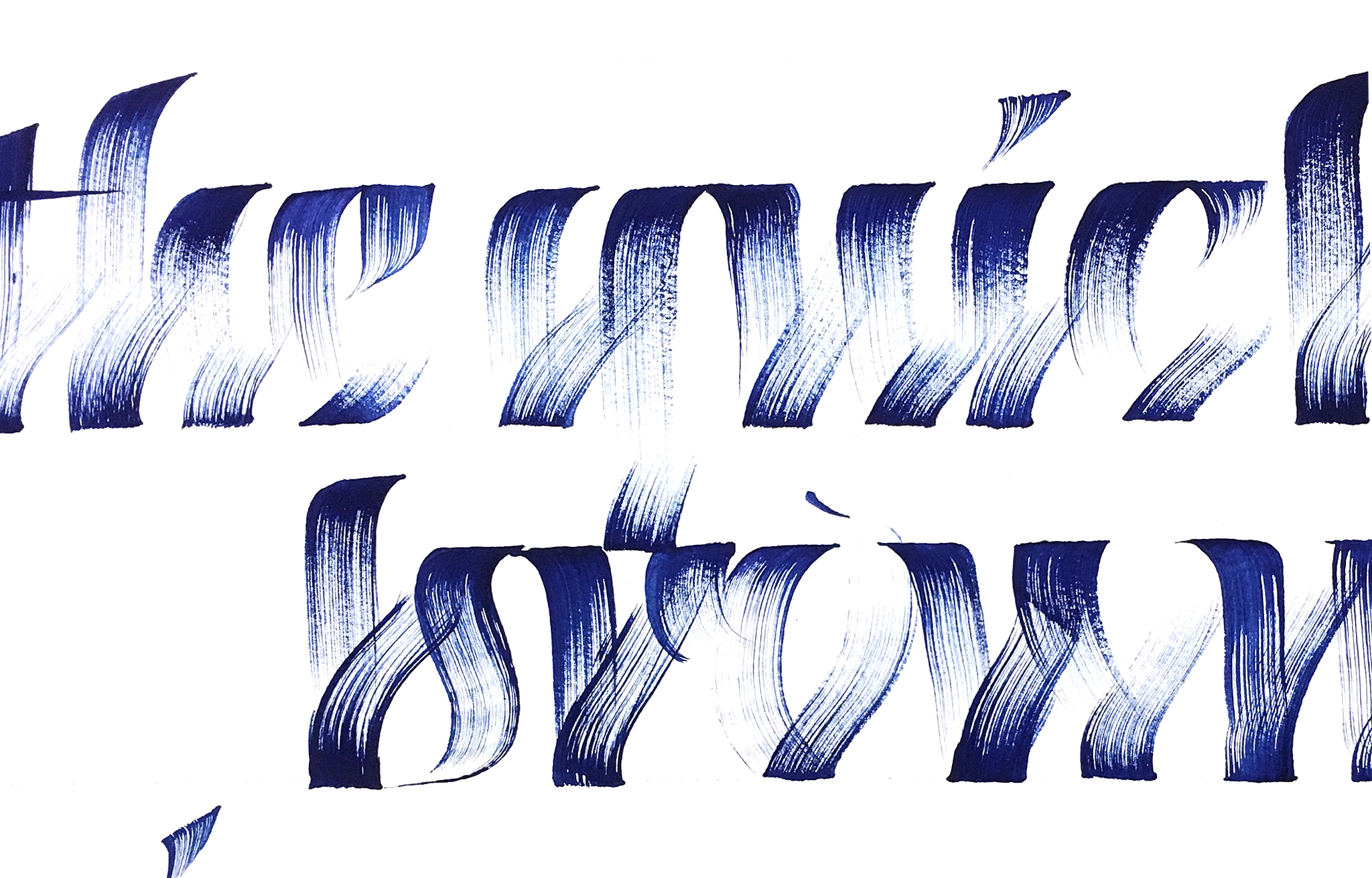 Textured brush calligraphy by Chavelli www.chavelli.com