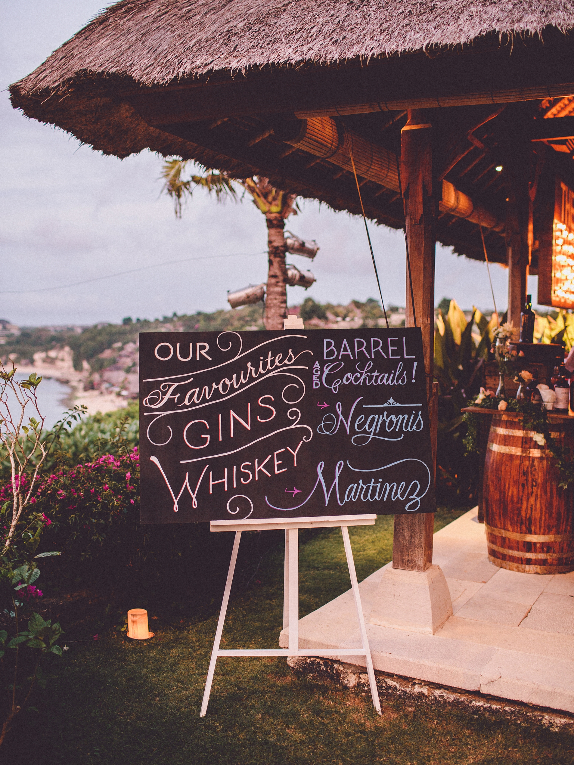 Seaside wedding in Bali, Indonesia // lettering by Chavelli www.chavelli.com