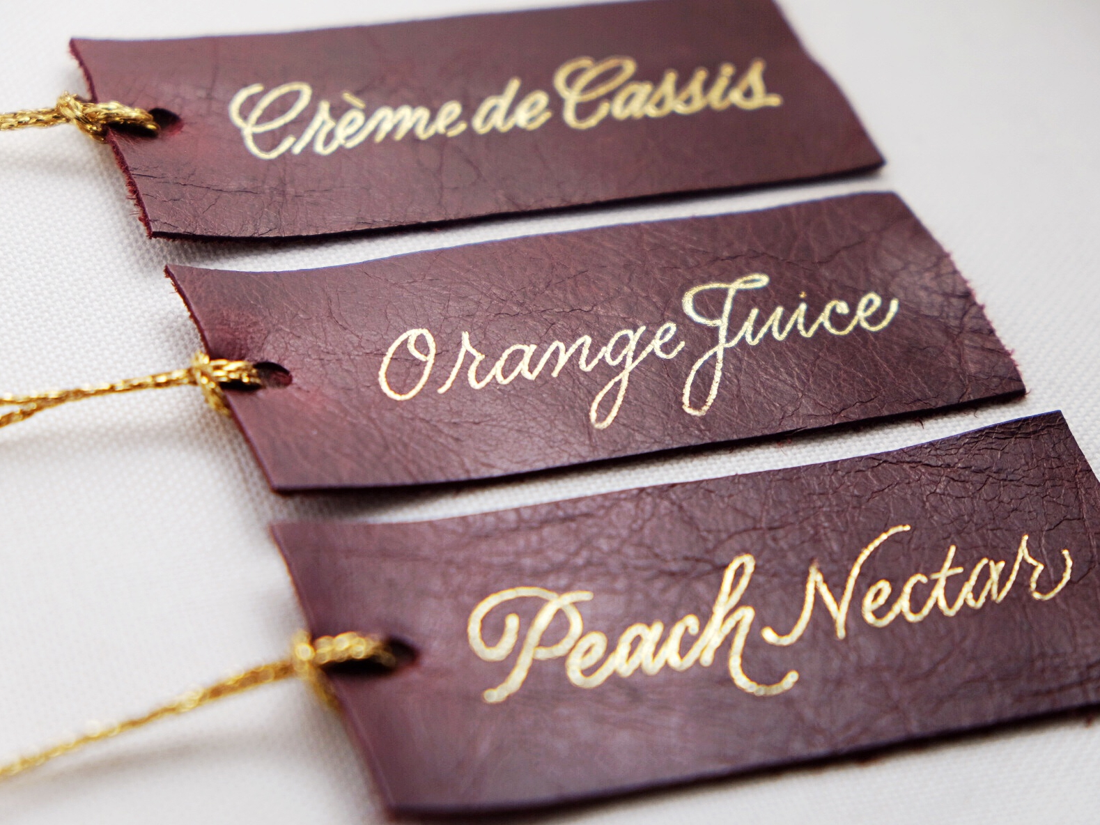 Leather Drink Labels