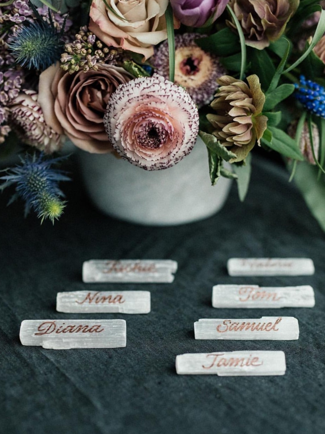 Selenite Crystal Place Cards