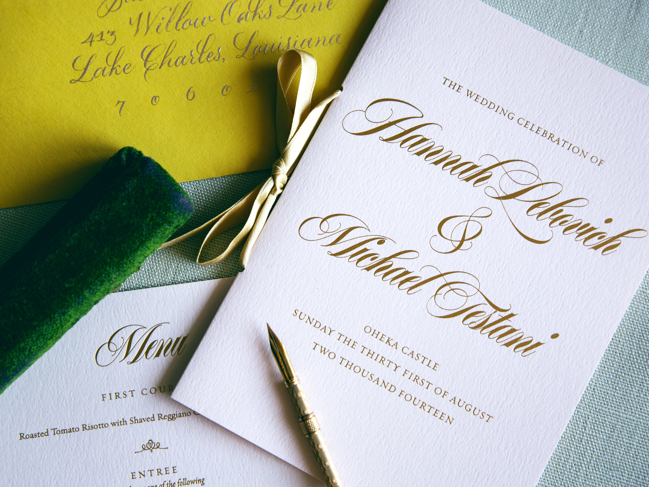 Gold Foil and Blush Pink