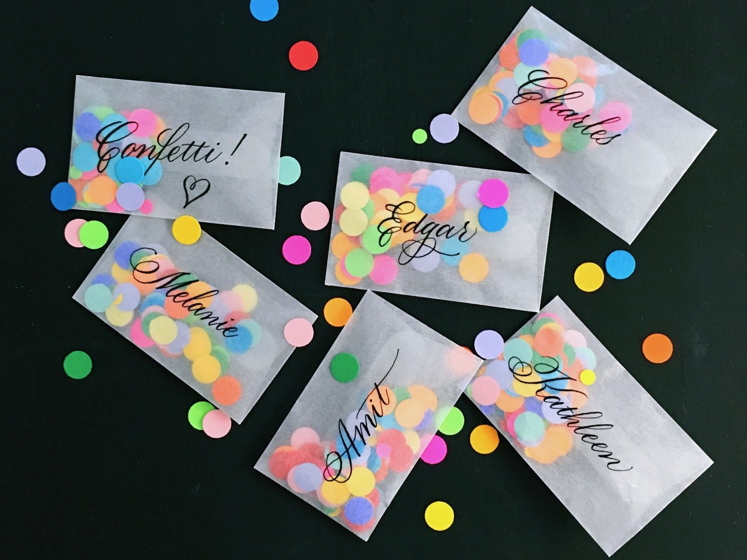 Confetti Place Cards