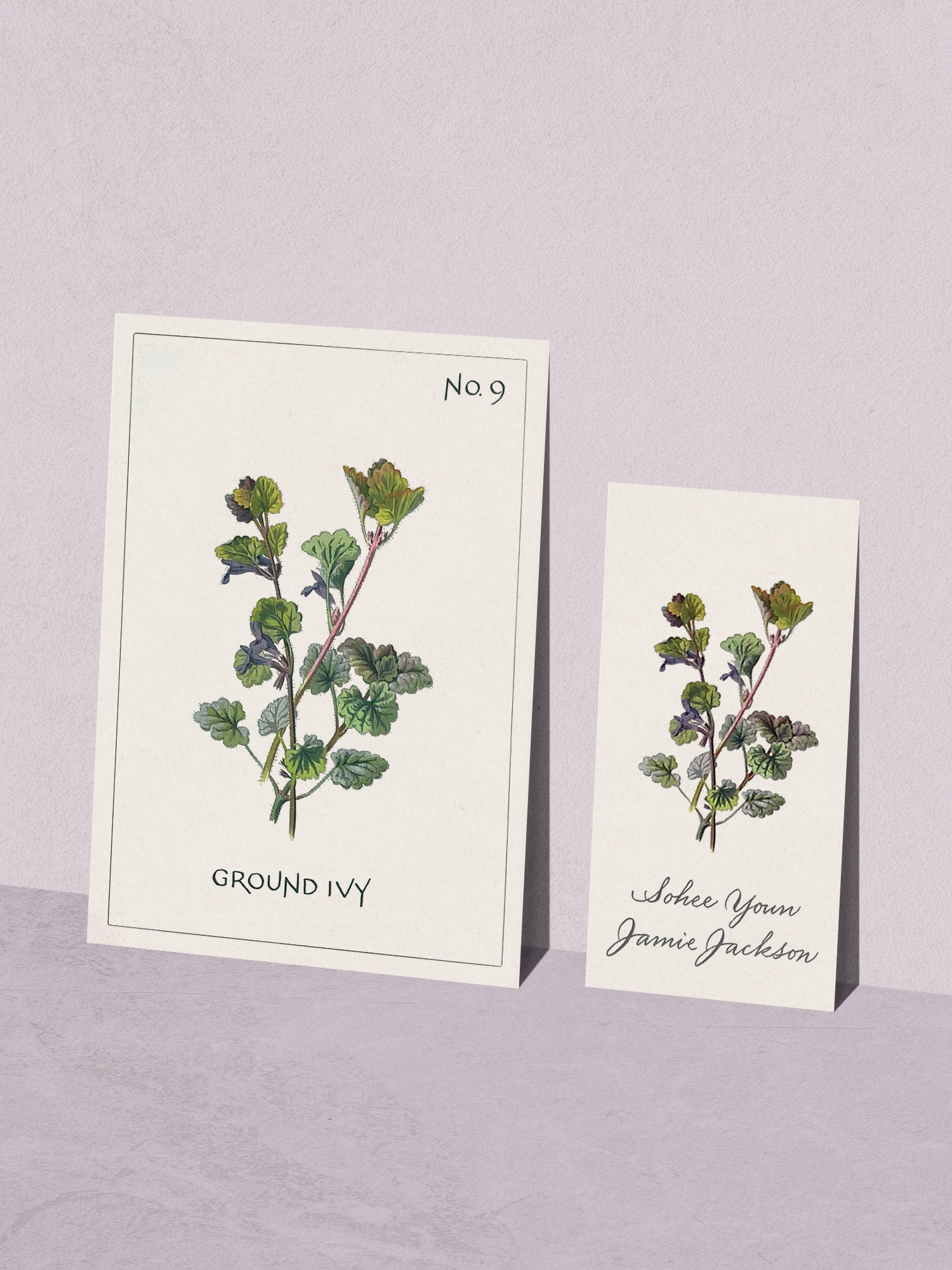Wedding botanical illustrations with calligraphy | www.chavelli.com