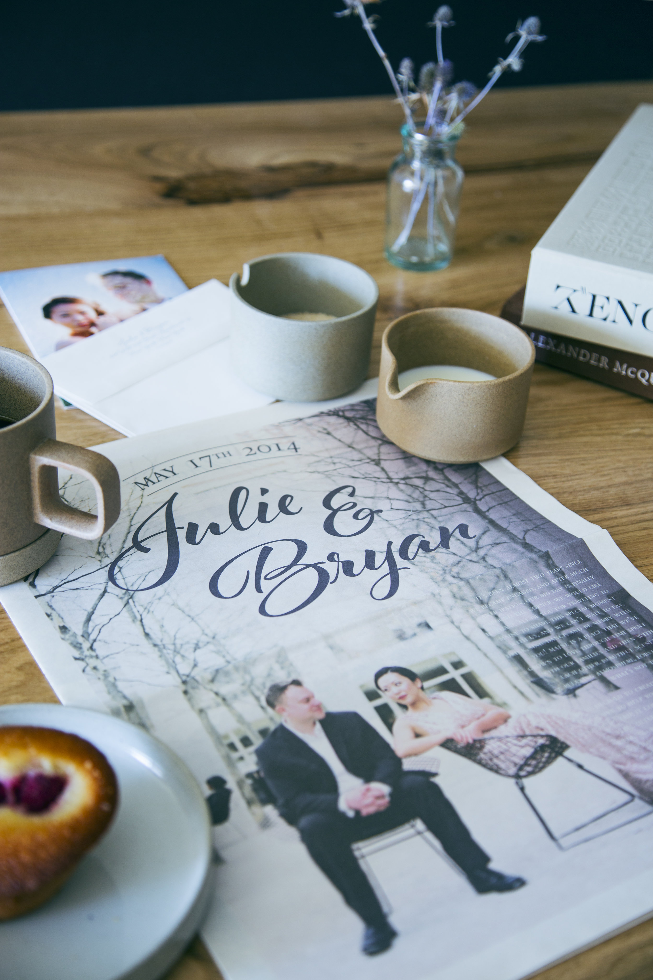 Custom designed wedding newspaper invitation | www.chavelli.com