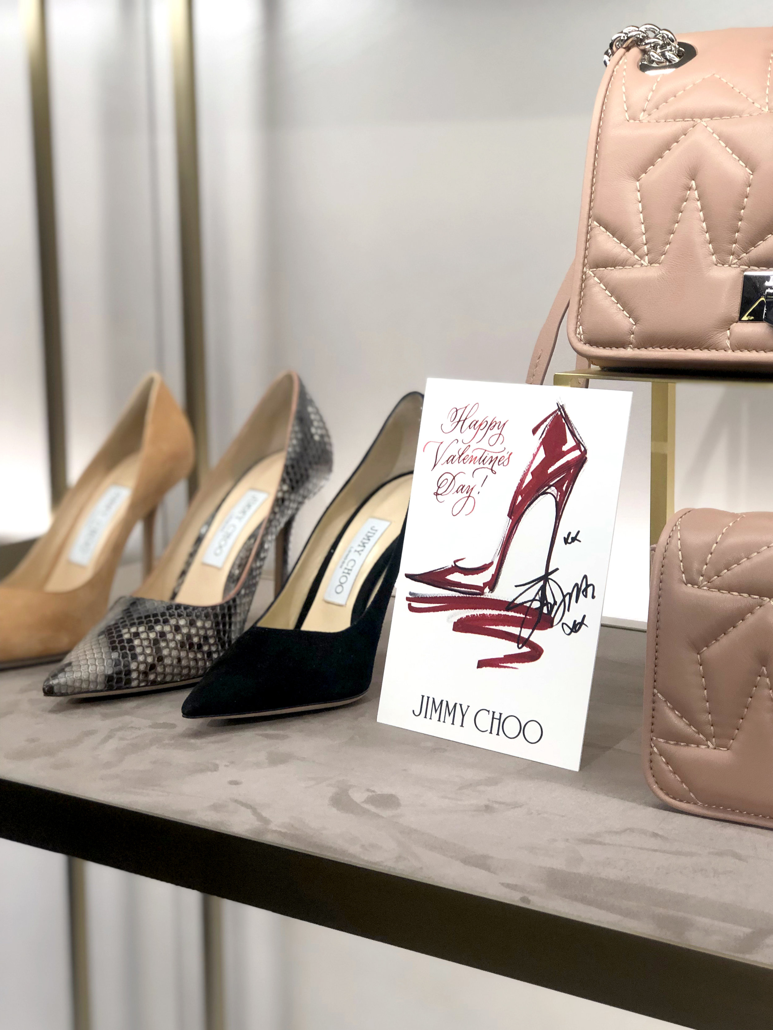 Jimmy Choo LOVE custom calligraphy event | by Chavelli www.chavelli.com