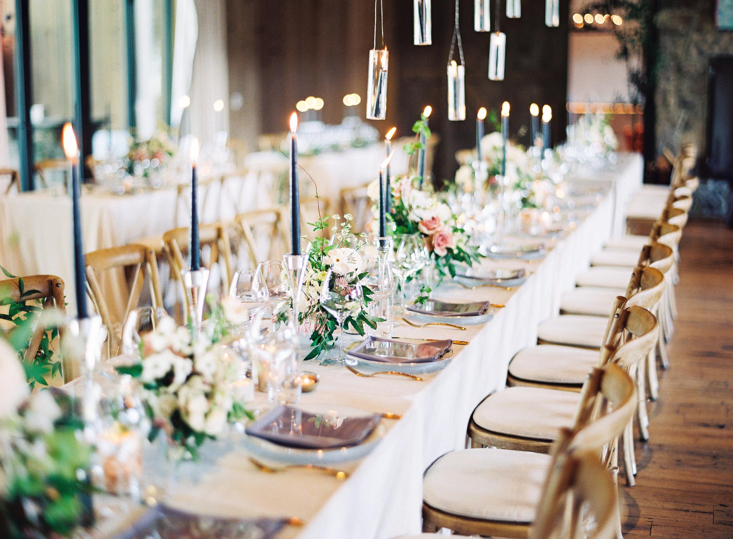 Blackberry Farm Wedding dinner tablescape