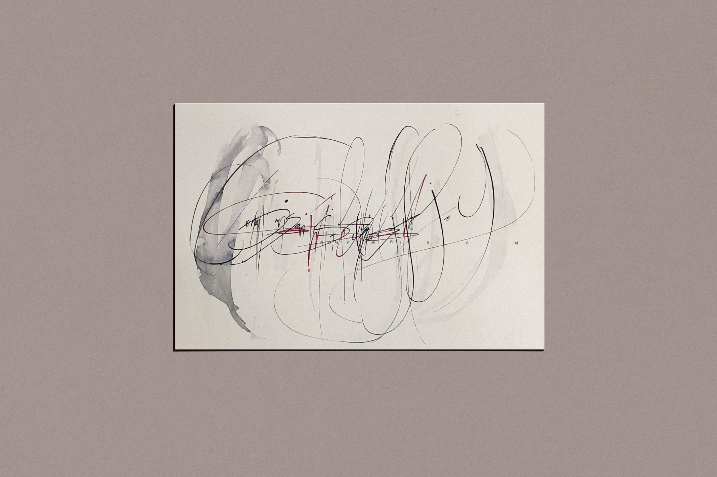 Gestural Calligraphy | by Chavelli www.chavelli.com