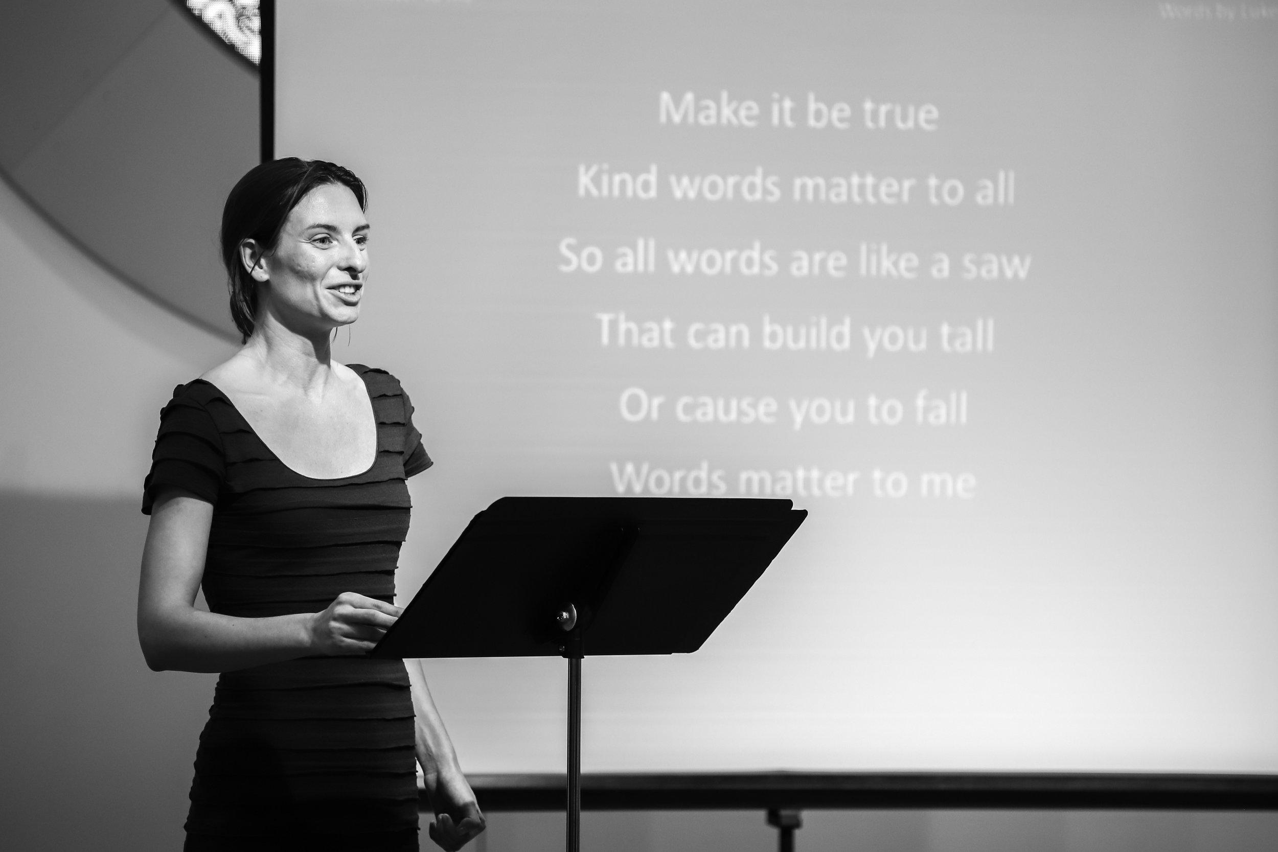 """Lauren McAllister performs """"Words Matter to Me"""" by Luke Burke. Luke's poems describe the power of words and their impact on him."""