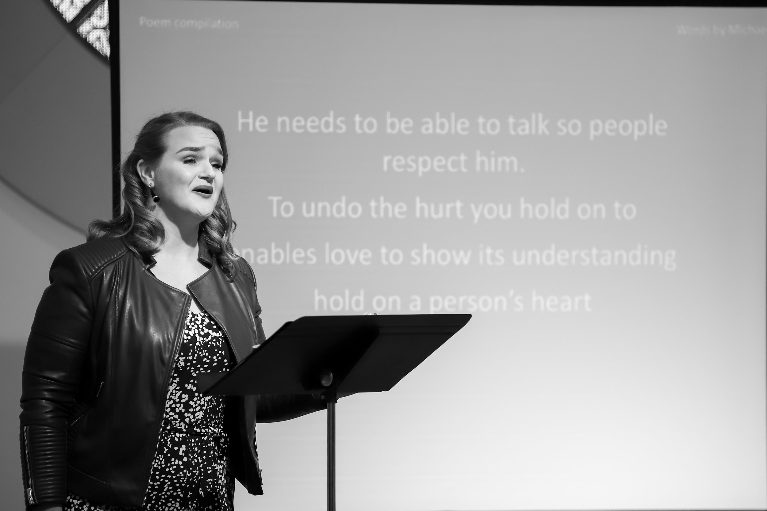 Keely Futterer performs a poem compilation by Michael Zepf. Michael's poem describes his desire to speak and be heard.