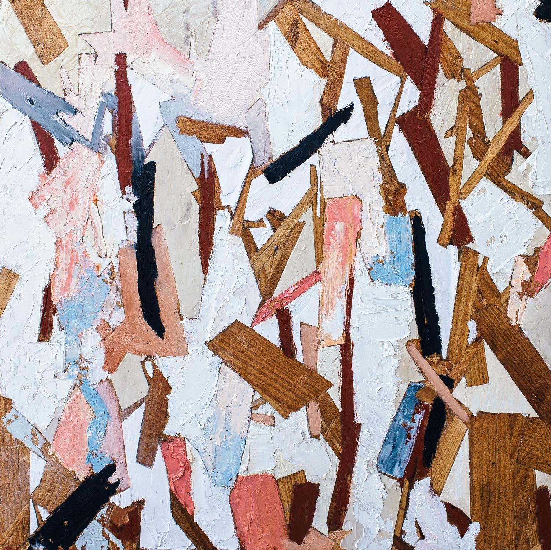 "Cadenza #1  Oil on Panel  24"" x 24""  2014"