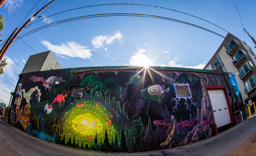 Denver, CO collaborative mural with Nome Edonna and Joe Hengst