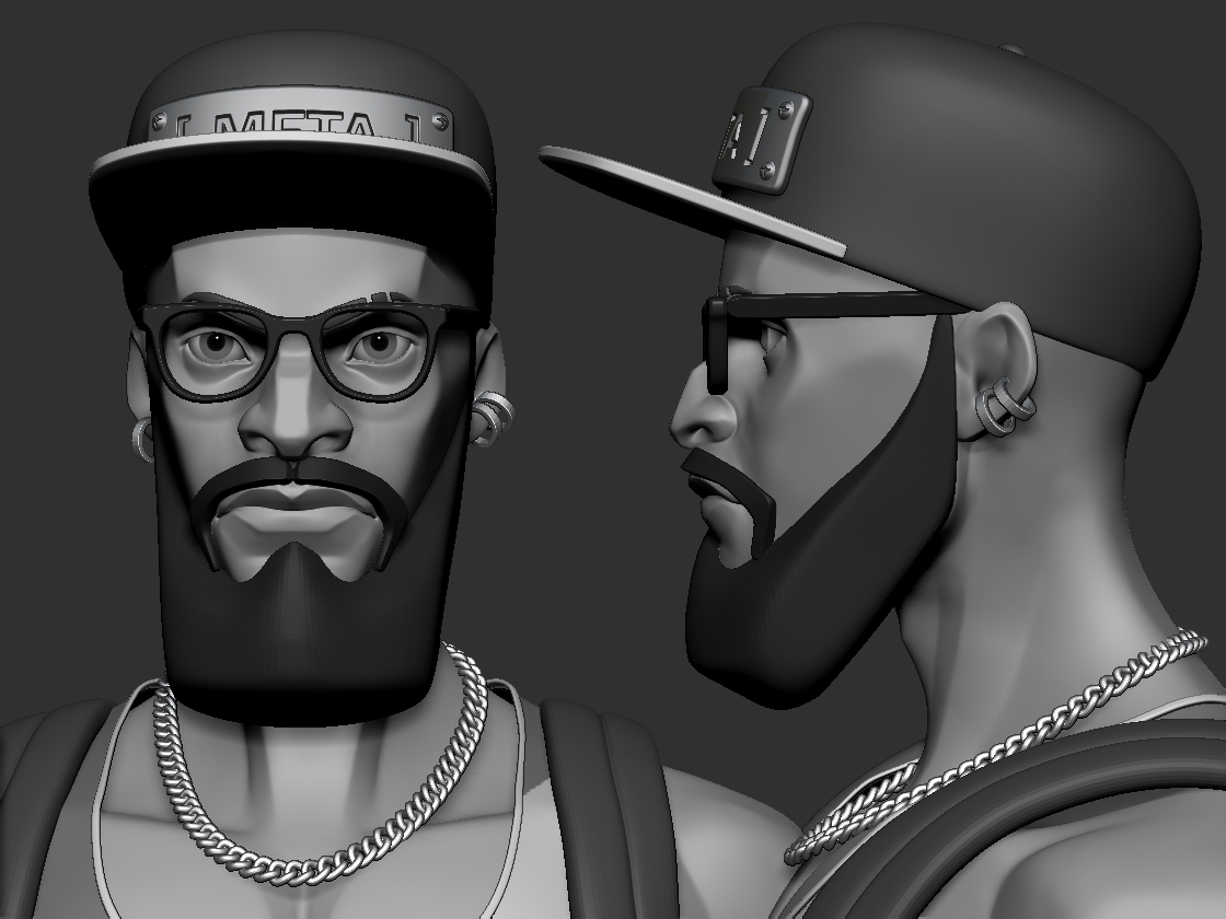 Early character mesh by Damon Woods.