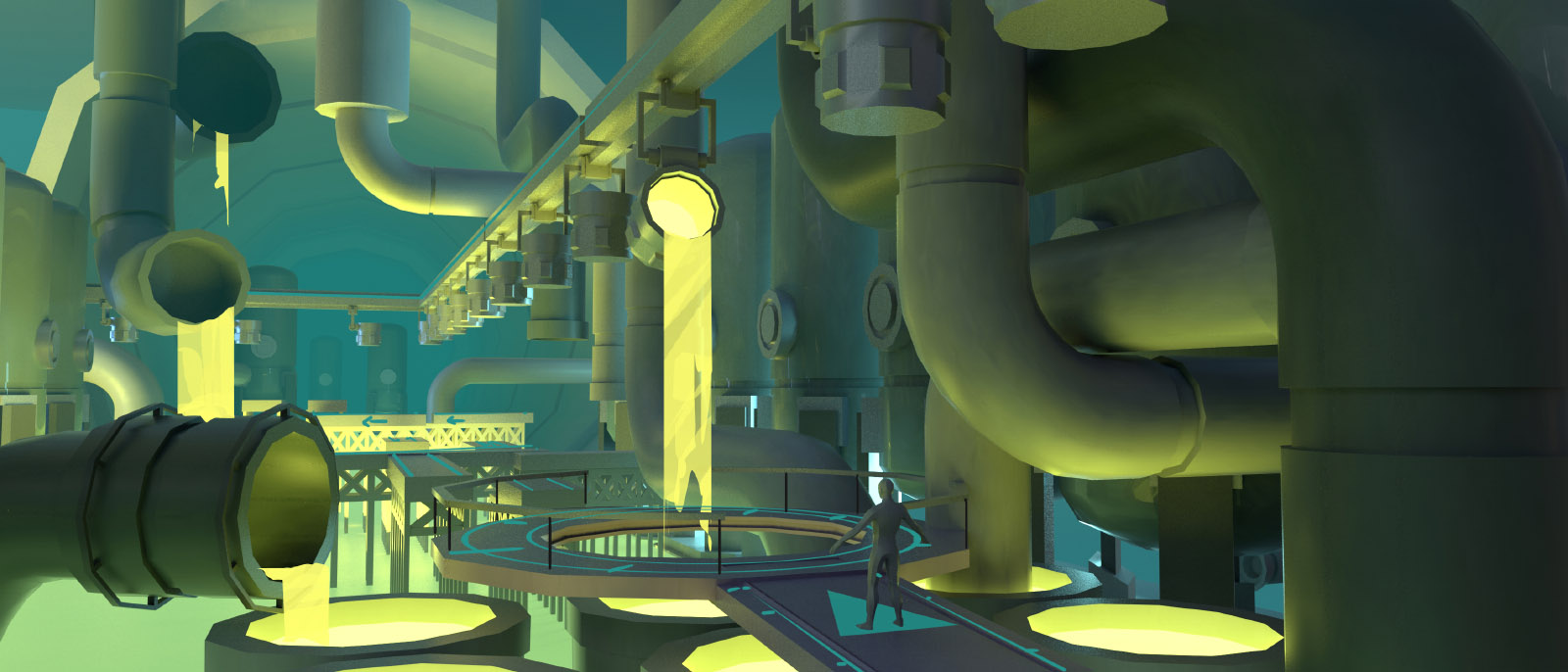 Toxic zone interior concept art by Brian Higgins.