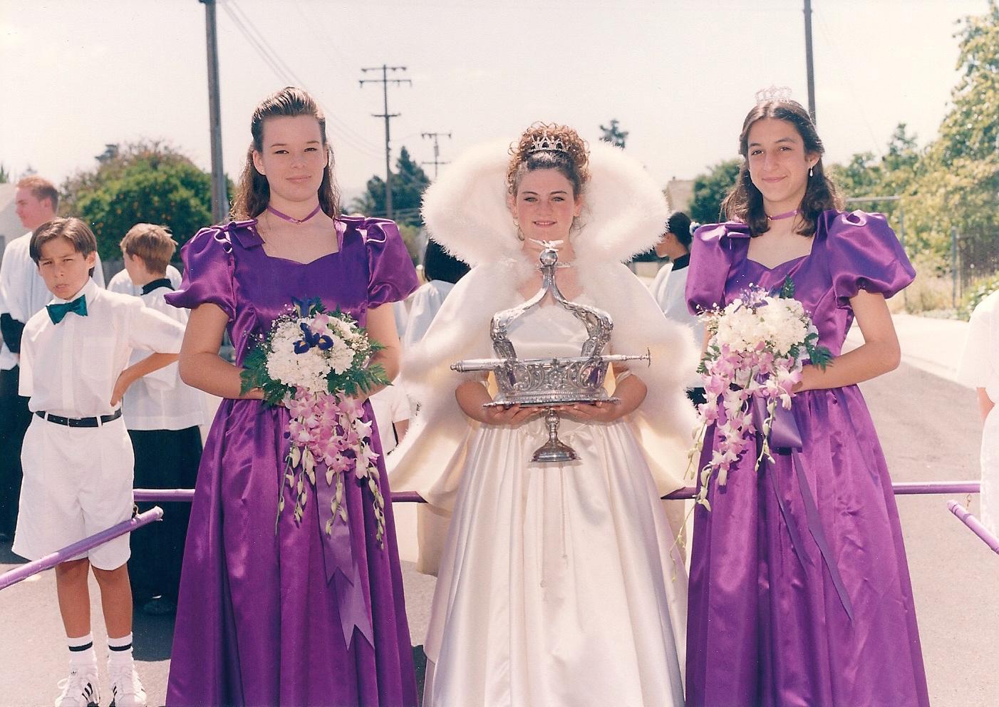 1995 Festival Queen -  Kristina Strambi    Sidemaids - Kelli Cantlon Walden & Amanda Monteiro Lingle