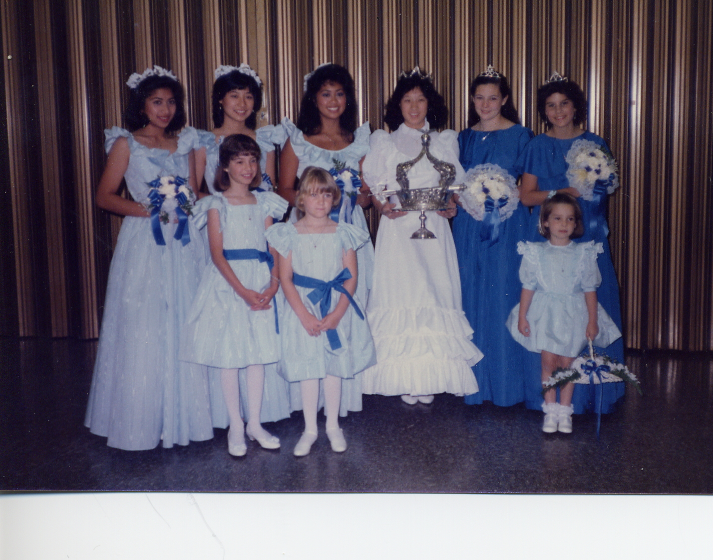 1985 Festival Queen -  Lisa Yee    Sidemaids - Tricia Boyle & Cynthia Gutierrez Valencia