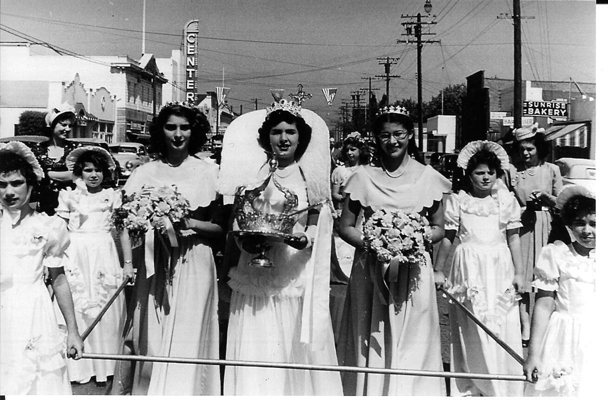 1950 Festival Queen - Margaret Nunnes Dahl   Sidemaids  - Arlene Silva Abbott &Evelyn Bettencourt Patton