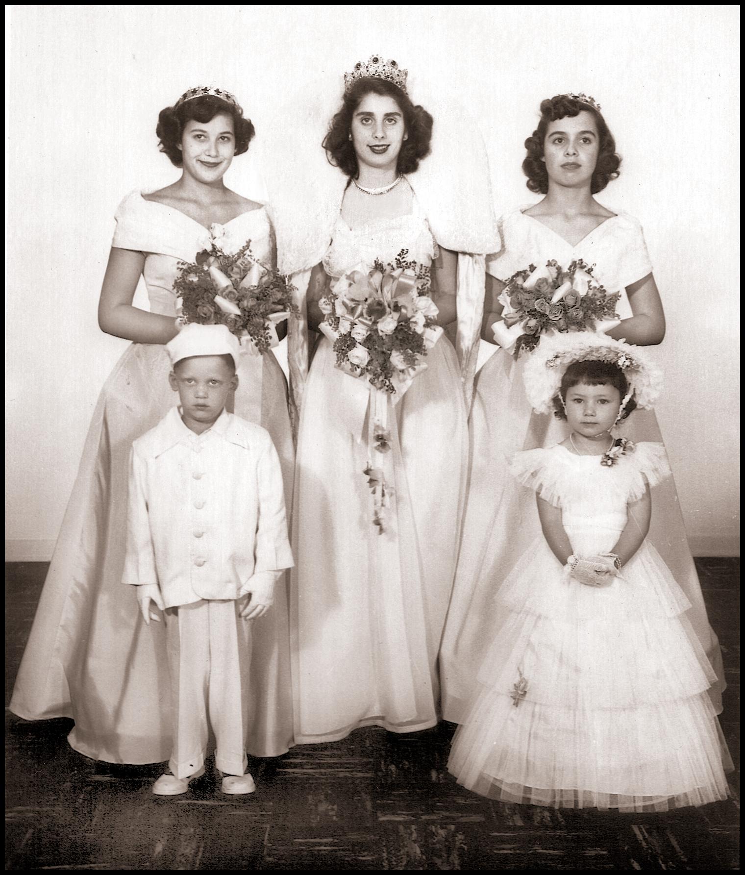 1951 Festival Queen -   Arlene Silva Abbott     Sidemaids -  Evelyn Bettencourt Patton & Donna Bettencourt Shoults