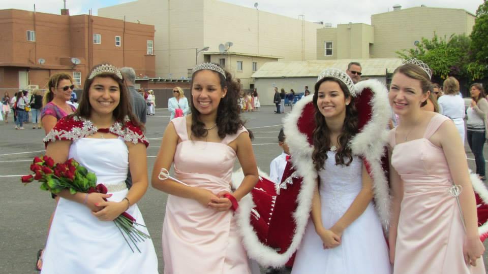 2014 Festival Queen -  CecileeAlberts    Sidemaids - Kathleen Barrett & Mercedas Reichel - Honor Maid - Danielle Adams