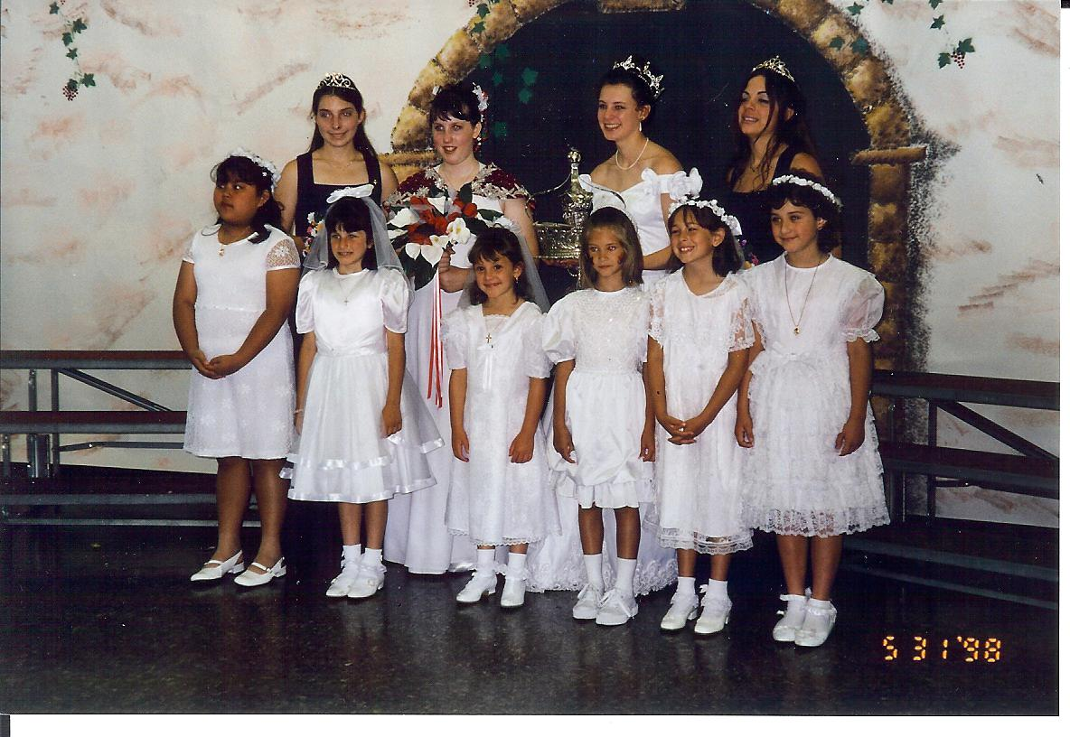 1998 Festival Queen   - Jessica Marin   Sidemaids - Rebecca Gentrup & Kristin Rinetti