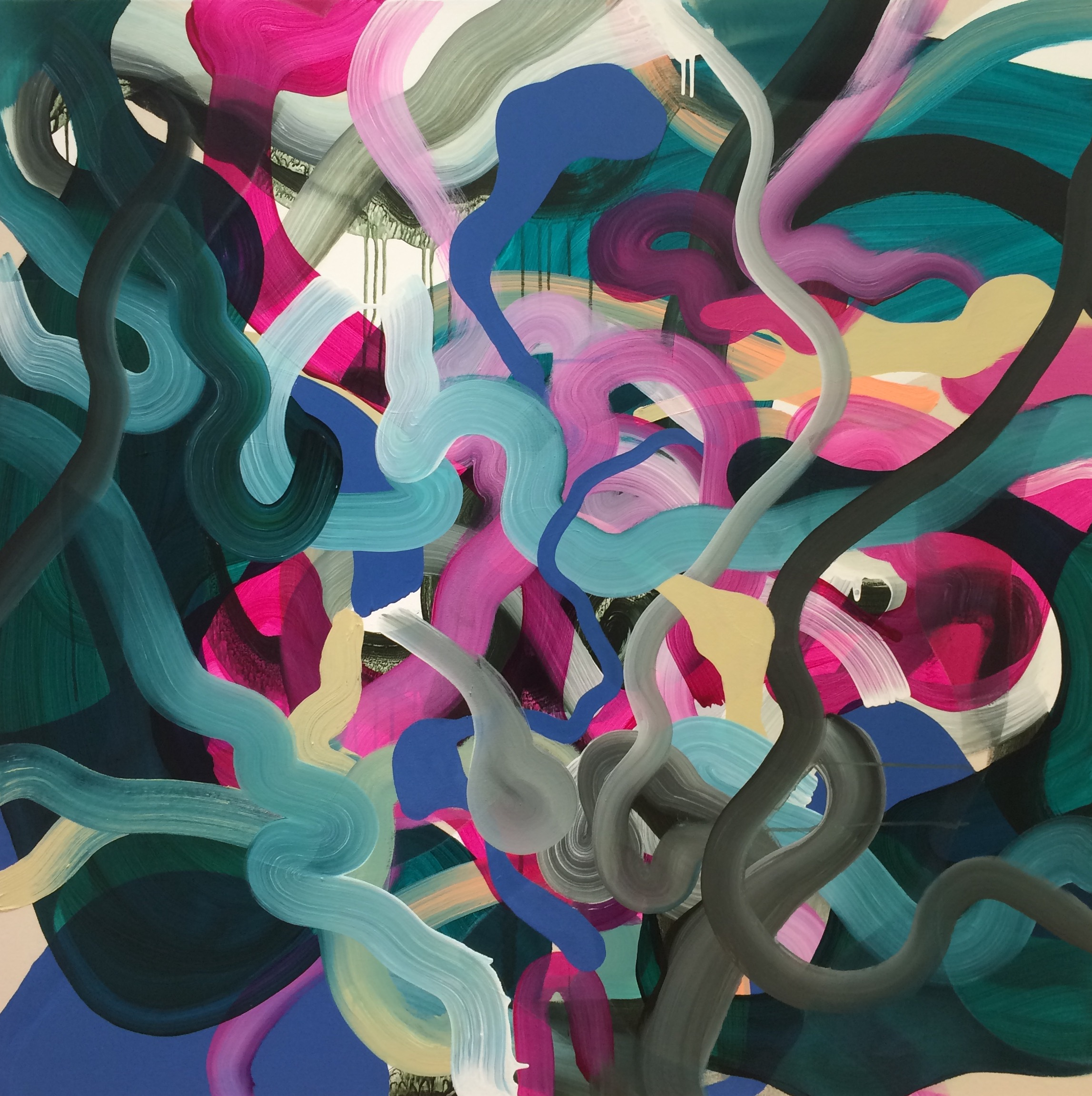 stuff: art collector alert - here's five kiwi artists who are going places     10 JULY 2016  There was a time when abstract expressionist painting was completely out of fashion. So much of it had been done around the world that the style seemed exhausted. Grace Wright is one of a number of young New Zealand artists who are giving gestural painting a new lease of life. Anyone can splash paint around – the challenge is to make art, not a mess....