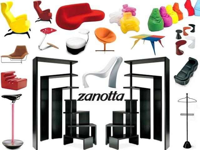 Zanotta - Fondata nel 1954, la Zanotta é riconosciuta come una delle maggiori protagoniste della storia del Design Italiano. Dagli anni sessanta in poi, guidata dall'intuito e dalla straordinaria capacità imprenditoriale del suo fondatore Aurelio Zanotta, conquista la scena internazionale grazie ai propri prodotti
