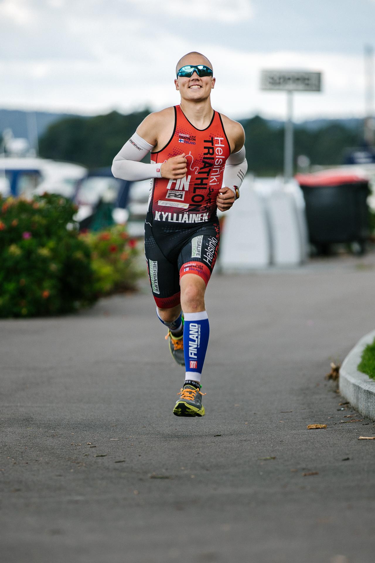 Triathlon athlete Mitja Kylliainen from Finland.