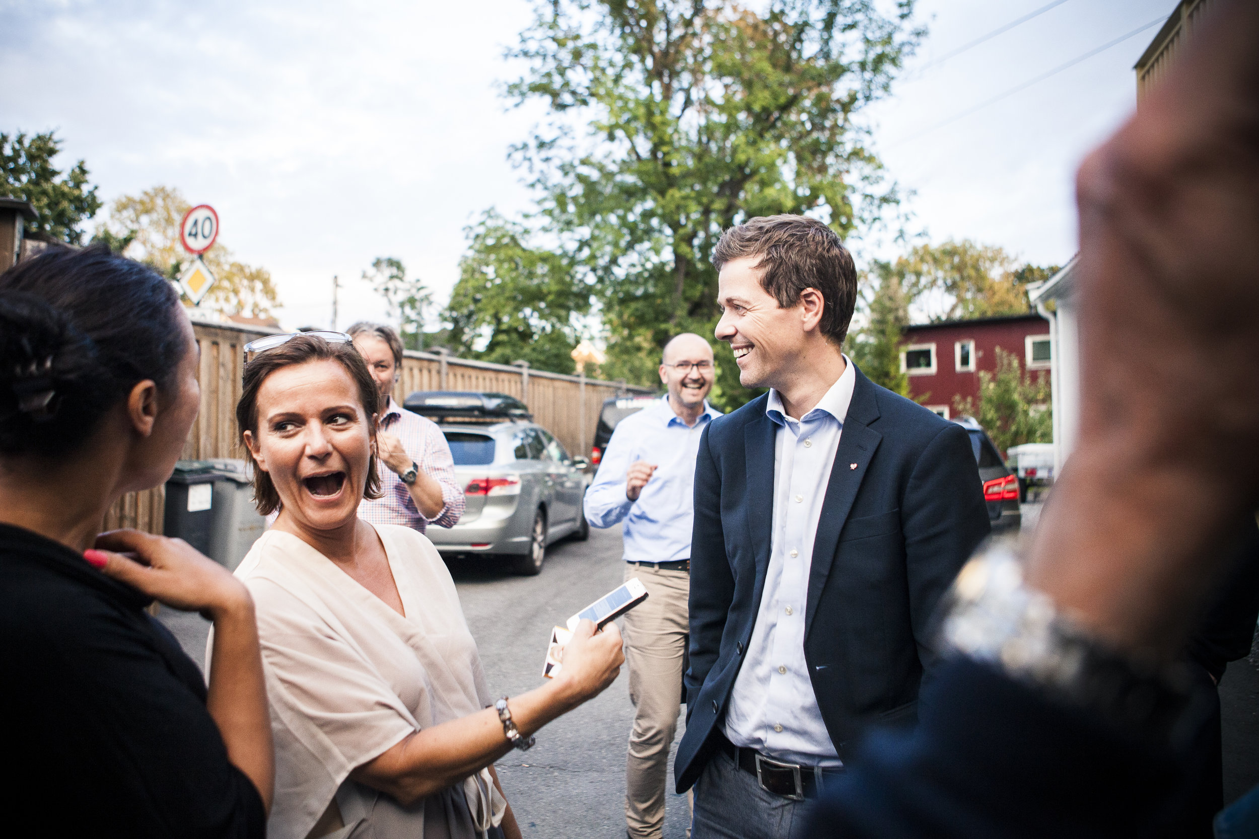 Journalist Synnøve Svabø and KRF politician Knut Arild Hareide