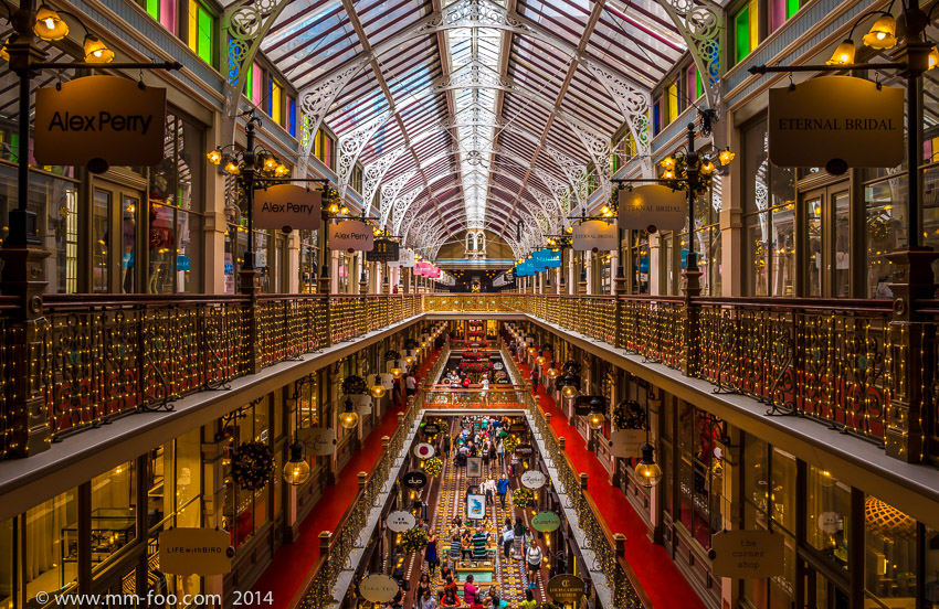 Photo Taken: The Strand Arcade level 3. 1/10 sec, 12mm, f/8.0, ISO100.