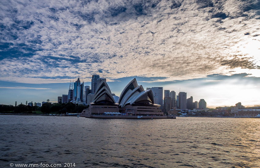 Photo Taken: Sydney Harbour Ferry from Manly. 1/200 sec, 12mm,f/5.6, ISO100.