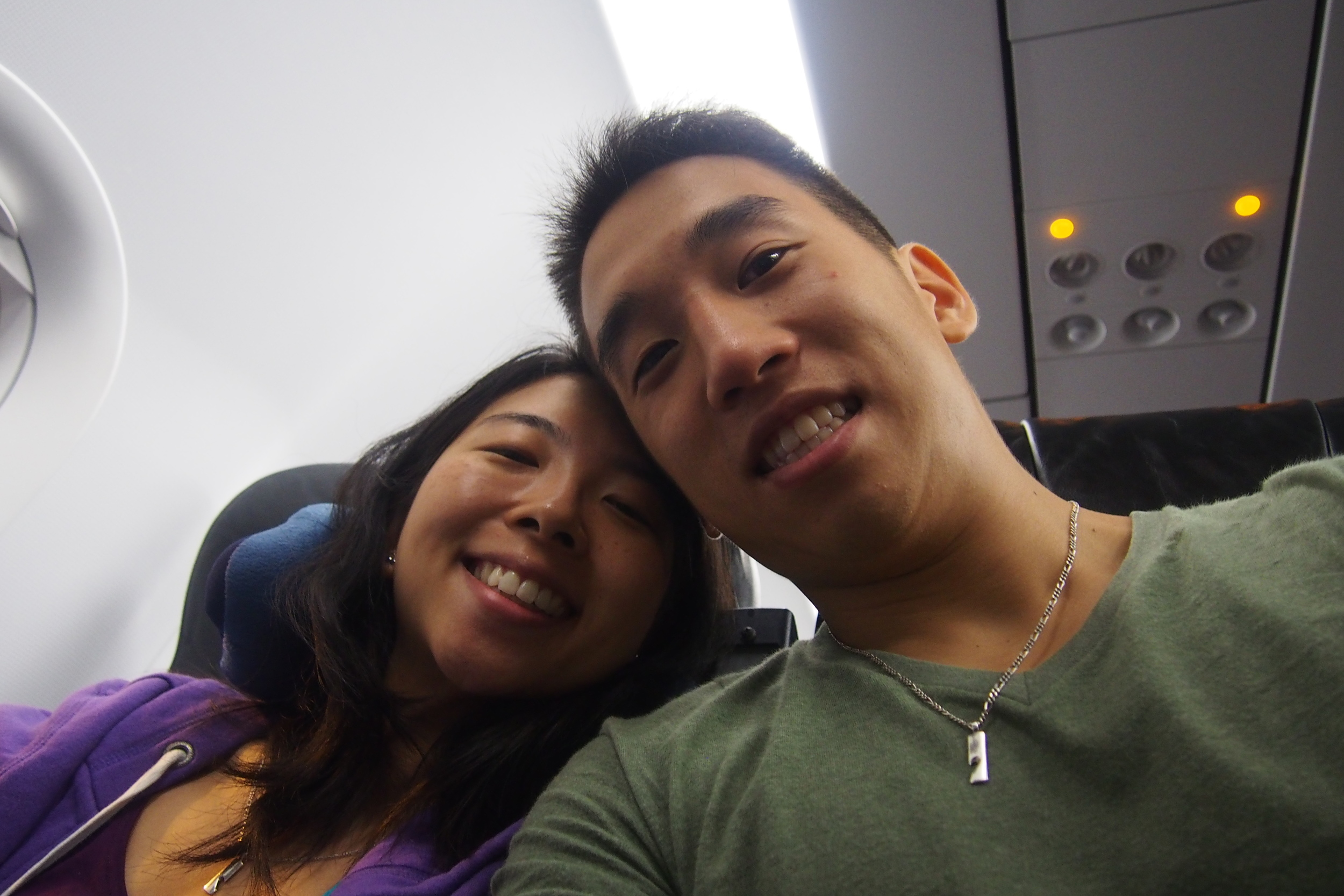 Us on the plane :)