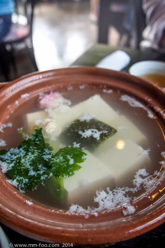 Tofu in clear soup