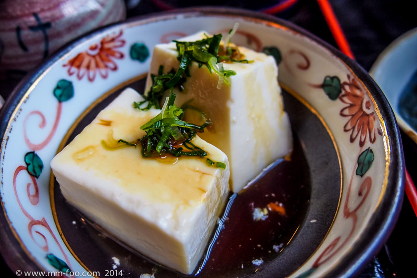 How the tofu is served and eaten.