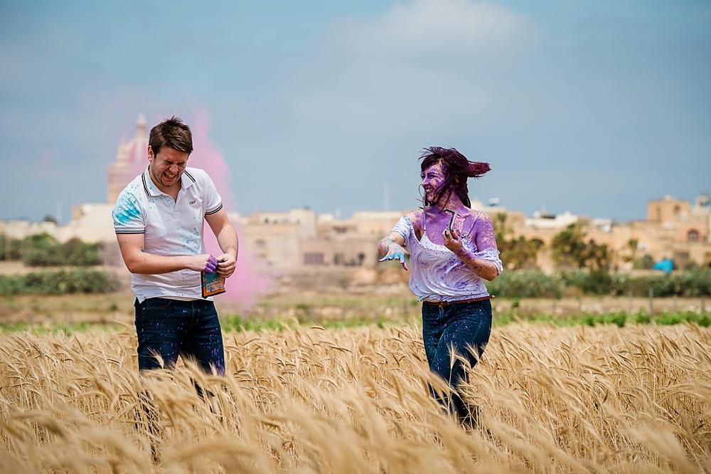 Engagement Session - Gozo - Holi Colours - Shane P. Watts Photography