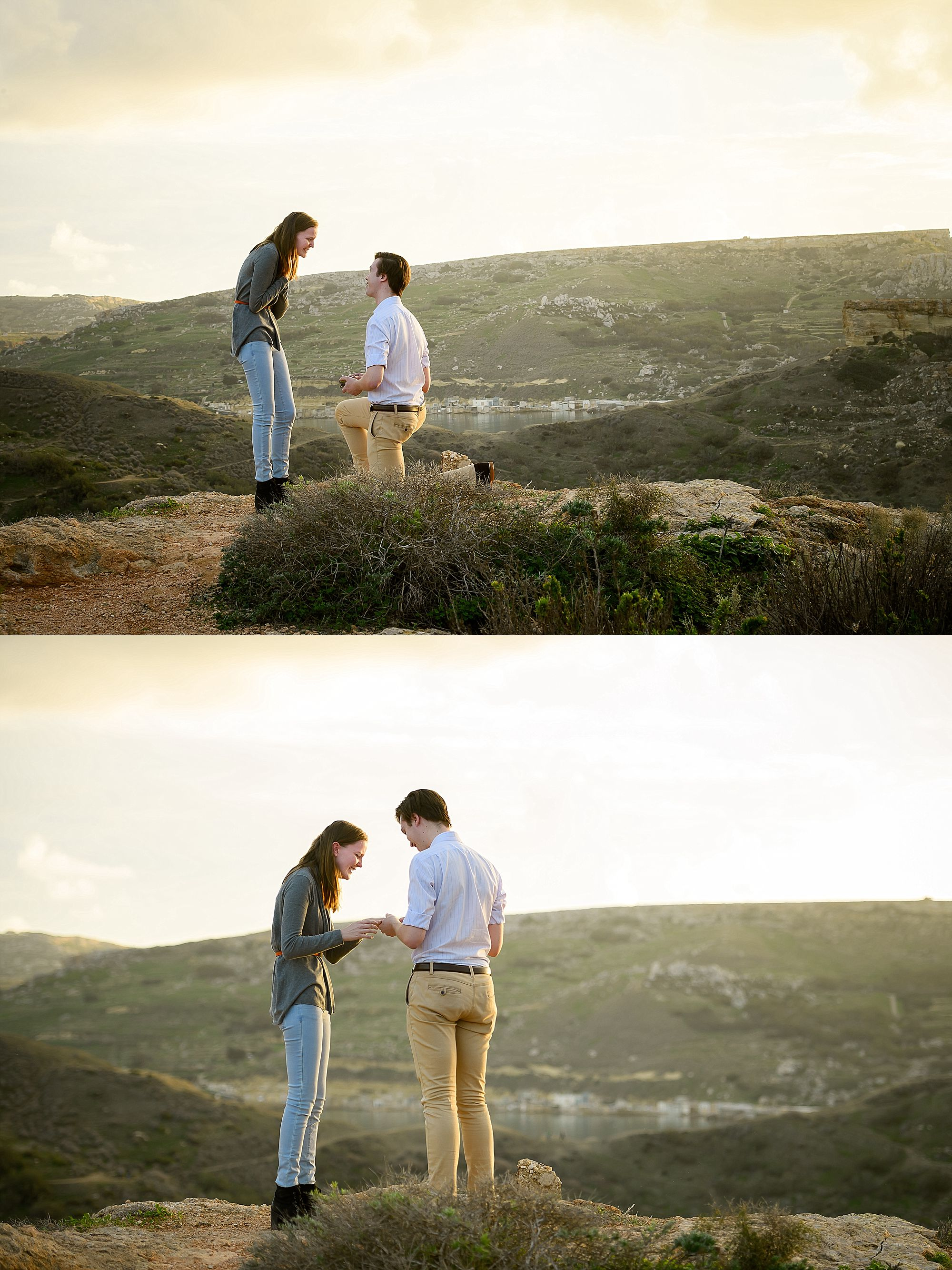 Secret Proposal - Ghajn Tuffieha Malta - Alice & Harrison - Shane P. Watts