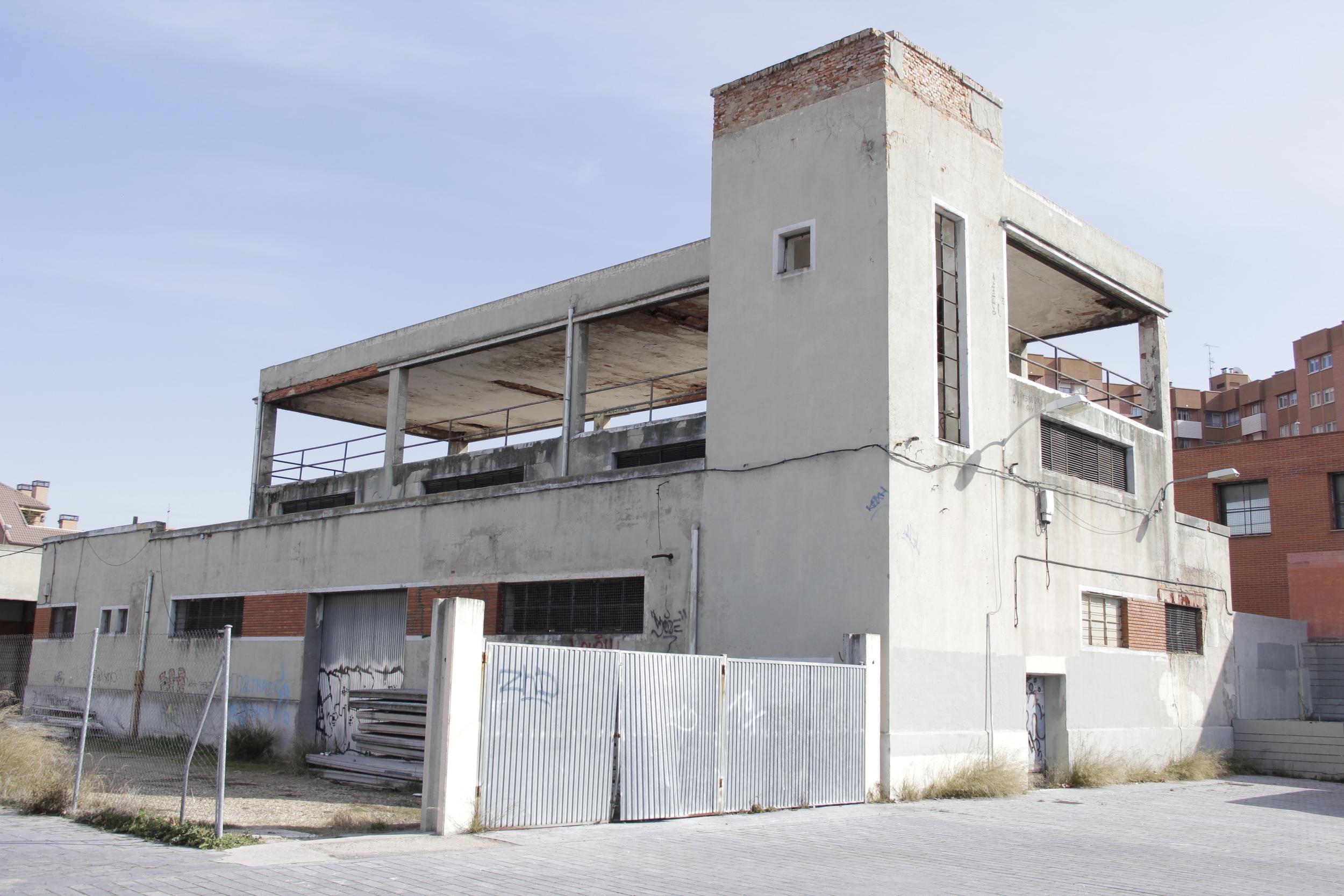 Única construcción original que queda del Antiguo Matadero