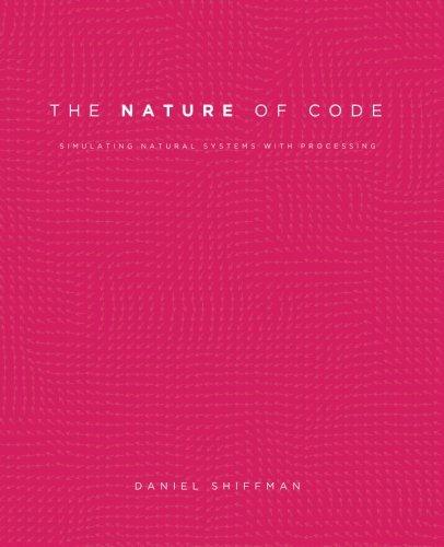 The Nature of Code - (Inglés)Este libro se centra en una gama de estrategias de programación y técnicas detrás de simulaciones por computadora de sistemas naturales, desde conceptos elementales de matemáticas y física hasta algoritmos más avanzados que permiten simulaciones con resultados visuales sofisticados.