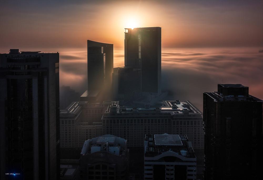 Architectural fine art Photography Fog