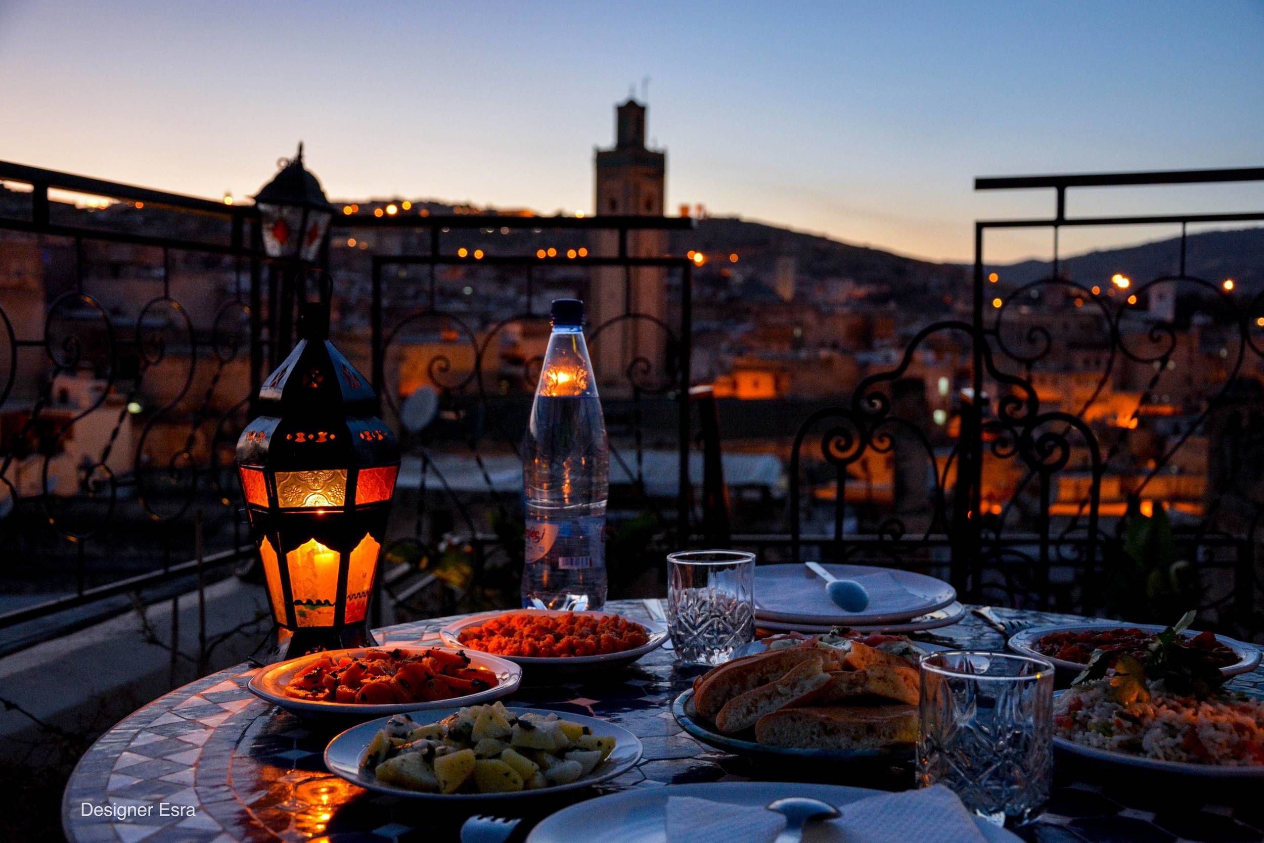 Dinner under the stars in Morocco